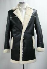 Men's Harry Brown Bonded Faux Black Sheepskin Coat (M).. Ref: 6649