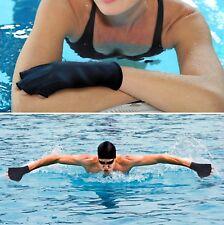 Tagvo SwimMitt Aquatic Training Gloves Water Resistance Swim Mitt Medium Black