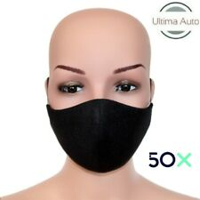 50x Black Breathable Fabric Washable Face Mouth Anti Pollution Protection