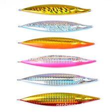 5PCS Deep Sea Slow Jig Fishing Ocean Metal Jigging Jigbait Spoon 175g/15cm