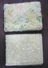Women's Vintage Jolles Original Embroidered Floral Beaded 1950's 2 Wallet Lot