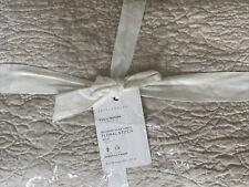 New ListingPottery Barn Belgian Flax Linen Floral Stitch Quilt Full/Queen ~ Flax Beige Nip