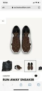 LOUIS VUITTON RUN AWAY SNEAKER Shoes, LV size 9/ 10 US