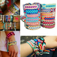 Handmade Bohemian Woven Friendship Bracelet Braided Wristband For Women Men