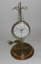 Vintage PARTS United Clock Model 207 Scales of Justice  Gold Tone American Eagle