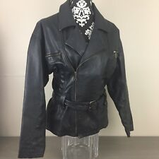 Vintage~Boutique Europa~Black~Leather Motorcycle Jacket~Size Small (8)