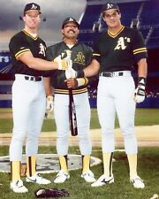 MARK McGWIRE REGGIE & JOSE CANSECO 8X10 PHOTO ATHLETICS A's BASEBALL PICTURE MLB