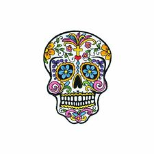 Fancy Sugar Skull (Iron on) Embroidery Applique Patch Sew Iron Badge