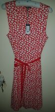 Laura Ashley pretty daisy red/orange dress - size 20 - new with tags