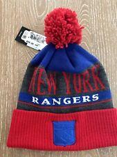 New York Rangers Adidas Knit Winter Hat With Pom Pom