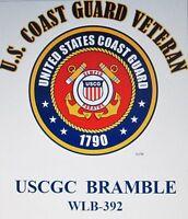 USCGC BRAMBLE  WLB-392* BUOY TENDER  U.S.COAST GUARD VETERAN EMBLEM*SHIRT