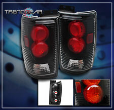 1997-2002 FORD EXPEDITION TAIL BRAKE LIGHTS REAR LAMPS BLACK 1998 1999 2000 2001