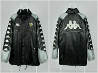 Mens Vintage 90s KAPPA Lugano Gara Official Pro Equipment Jacket Black Size XL