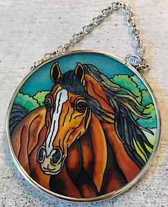 "AMIA SUN CATCHER HORSE by KATHLEEN KEIL HILL DENVER ROUND 3 1/2"" NEW"