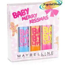 Maybelline Bebé Merry kissmas Bálsamo para labios Conjunto de regalo de Navidad hidratado, Cereza, Rosa Punzón