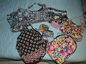 VERA BRADLEY LARGE LOT Backpack PURSE Wallet DRAWSTRING BAG Handbag 9 Pieces