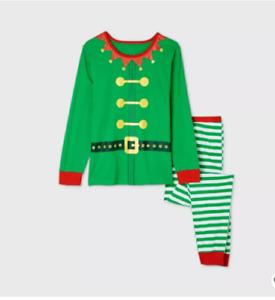 Mens & Womens Holiday Elf Matching Family Pajama Set - Wondershop™ Green