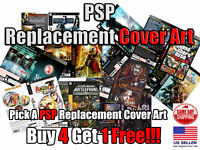 PSP PlayStation Portable Replacement Game Cover Art Box Art