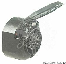 Osculati Black ABS / Chromed Brass 12V 13-pole Socket Suitable for Towing