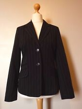 E-vie Collection Formal Pinstripe Blazer Jacket Fully Lined Size 12 NEW Black