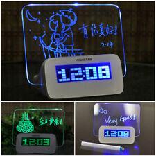 gribouillage Réveil del MATIN mémo tableau à messages avec Stylo Bureau Horloge