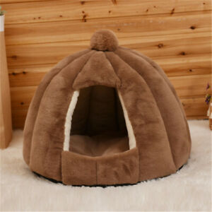 Cozy Kitty Tent Igloo Plush Cat Bed