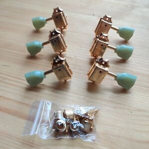 New B-stock Wilkinson Deluxe Gold 3L3R 3 A Side Tulip Style Tuners Machine Heads