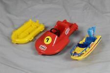 Vecchio giocattoli per bambini - 3 vecchie barche di plastica-PLAYMOBIL GEOBRA 1979/s252