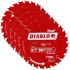5-Pack Freud D0624A Diablo 6-1/2-inch 24T Wood Saw Blades Fits Milwaukee 2630-20