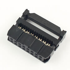 20Pcs Black 2.54mm Pitch 2x8 Pin16 Pin IDC Female Header Cable Connector FC-16