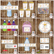 PERSONALISED CAROUSEL PARTY ITEMS WATER BOTTLE LABELS STICKERS FRUIT SHOOT LABEL