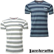 Lambretta T-Shirts Tee Crew Neck Short Sleeve Mens Stripe Cotton UK S-4XL