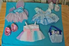 Lot Build-A-Bear Girl Bear/Doll Clothes Disney Dresses/Fairy Ballerina/Shoes EUC
