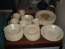 Lot of 8 vintage Homer Laughlin Desert Stone multi-sided ivory soup bowls