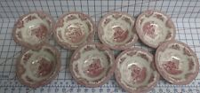 8 New Johnson Brothers Bros Old Britain Castles Pink Cereal Bowls free US ship