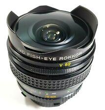 Minolta 16mm F2.8 MD Fish Eye Rokkor Camera Lens with Case Caps UK Fast Post
