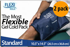 2 Pack FlexiKold Gel Ice Pack Reusable Cold Therapy Packs for Pain and Injuries