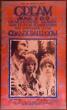 '68 Cream Clapton Mc5 Grande Poster Official 2Nd Print Signed Numbered Grimshaw