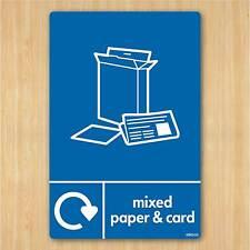 Signo de tarjeta de papel mixto & A5 148x210mm AUTO-ADHESIVO VINILO STICKER Wrap reciclar