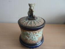 DOULTON LAMBETH TOBACCO JAR BY GEORGE TINWORTH