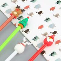Cute Christmas Santa Tree Pen Office School Supply Color Stationery Four ch K3E8