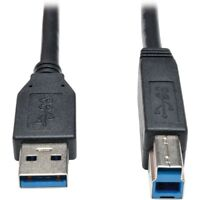 Tripp Lite Usb 3.0 Superspeed Device Cable [ab M/m] Black, 6-ft - Usb For Hard