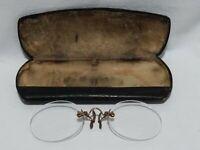 Antique Pince-Nez Glasses With Case. B37