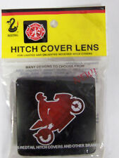 """Redtail Logo Hitch Cover Lens for 3"""" Square Receiver Cover Motorcycle"""