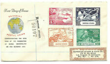 1949 Universal Postal Union British Guiana To Los Angeles Registered Fdc