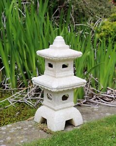 Garden Ornament Chinese Pagoda, Japanese Sculpture Lantern decor Ceramic LARGE