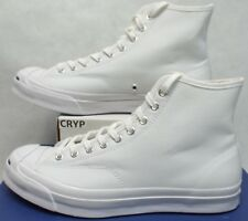 Mens 11.5 Converse Jack Purcell JP Signature Hi Triple White Canvas 153591C $120