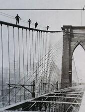 """MEN WALK ON BROOKLYN BRIDGE, 1926, digital, 24""""hx18""""w image"""