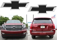 Flat Black Vinyl Bowtie Decals For 2014-2018 Chevrolet Tahoe Suburban New USA