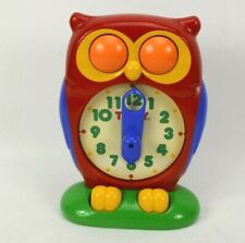 Vintage Tomy Owl Clock Educational Time Learning Toy Working 1990